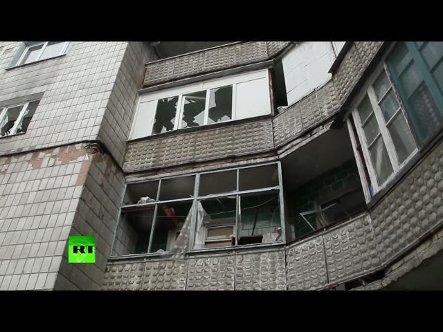 Donetsk shelling aftermath: Residential building, kindergarten bombed