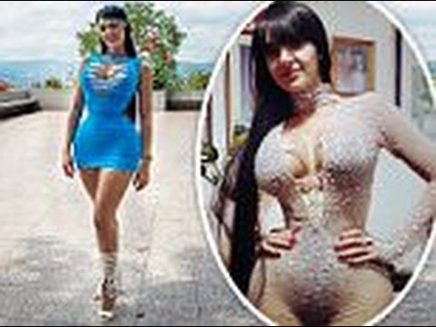 aa2e1287a1 Model shrinks her waist to just 20 INCHES by wearing a corset for 23 hours  every day for six years