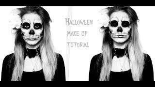 Череп-Макияж на Хэлллоуин/Halloween make up(ВНИМАНИЕ!:Если у вас нет грима,вместо него можно использовать гуашь с добавлением капельки шампуня(чтобы..., 2013-10-30T05:07:30.000Z)
