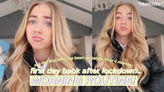 my first day back to school.. morning routine *it's too early*