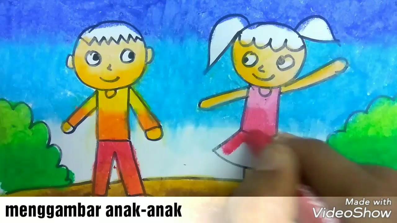 Cara Menggambar Dan Mewarnai Anak Anak Yang Paling Gampang Buat Anak