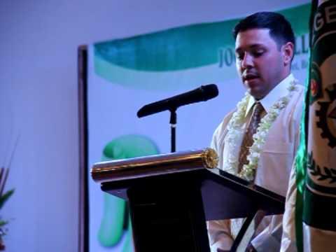 Commencement Speech of Mr. Jeff Pradhan VP Sales & Marketing, Peregrine Development International