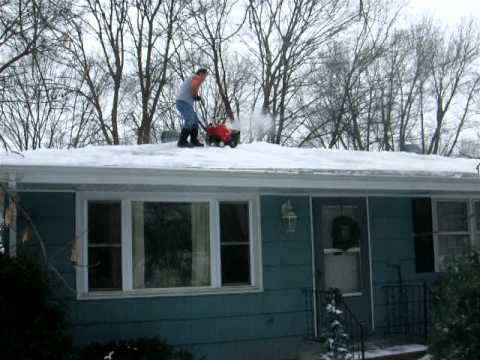 Snowblower On A Roof In Minnesota Youtube
