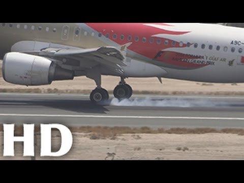 ᴴᴰ Gulf Air ( Bahrain F1 ) Airbus A320 Smooth Landing at Doha Airport