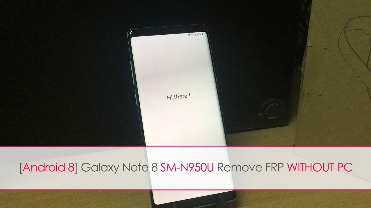 Samsung Galaxy Note 8 [SM-G950U] Android 8 Oreo Remove Google Account lock  without PC | DarTech
