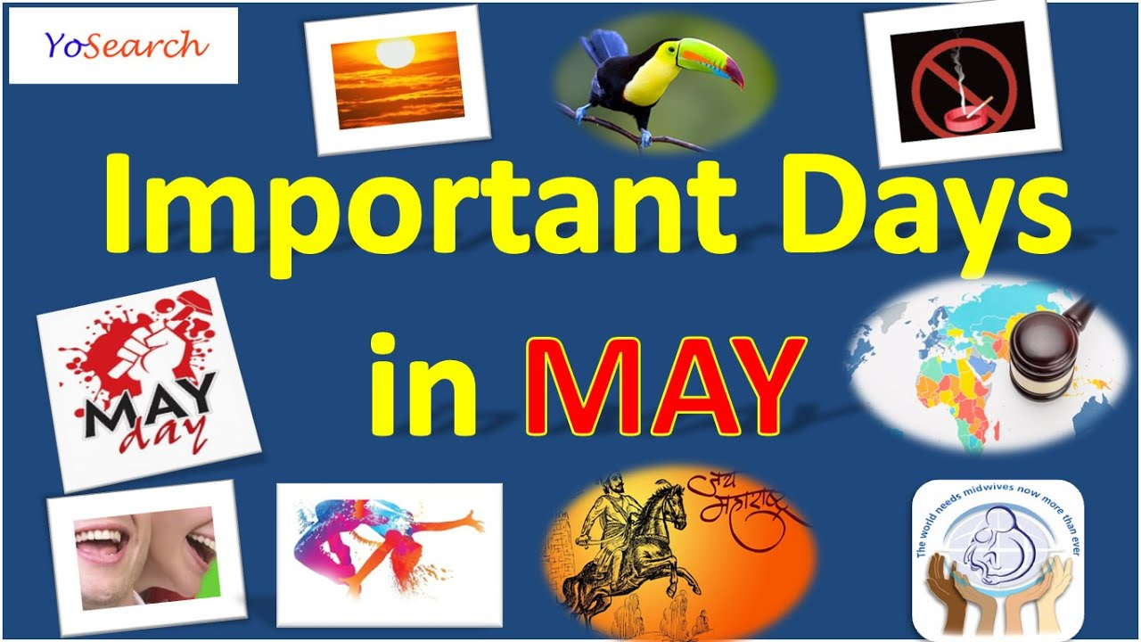 Important Days in May   National and International Days in May ...