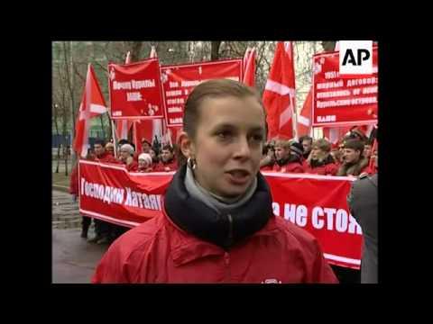Pro-Kremlin youth group pickets Japanese Embassy