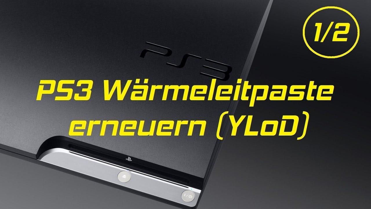 PS3 Slim Wärmeleitpaste erneuern - Tutorial - YLoD (1/2) - YouTube