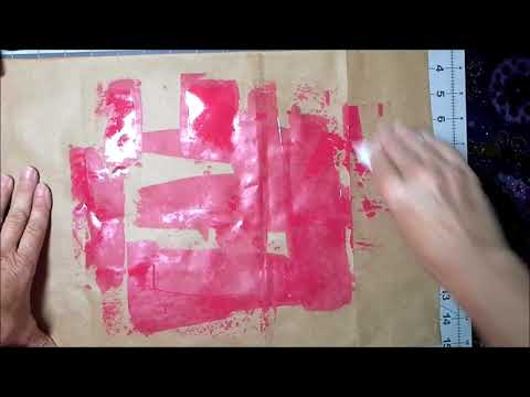 Patreon Challenge Painted Paper Bag Book Cover