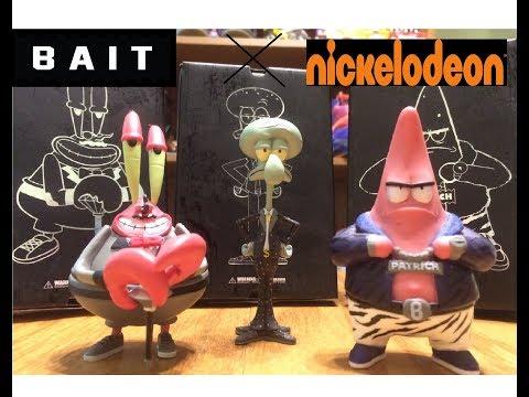 BAIT x Nickelodeon MindStyle 4 Inch Vinyl Spongebob Patrick Squidward Mr. Krabs Pop Life!