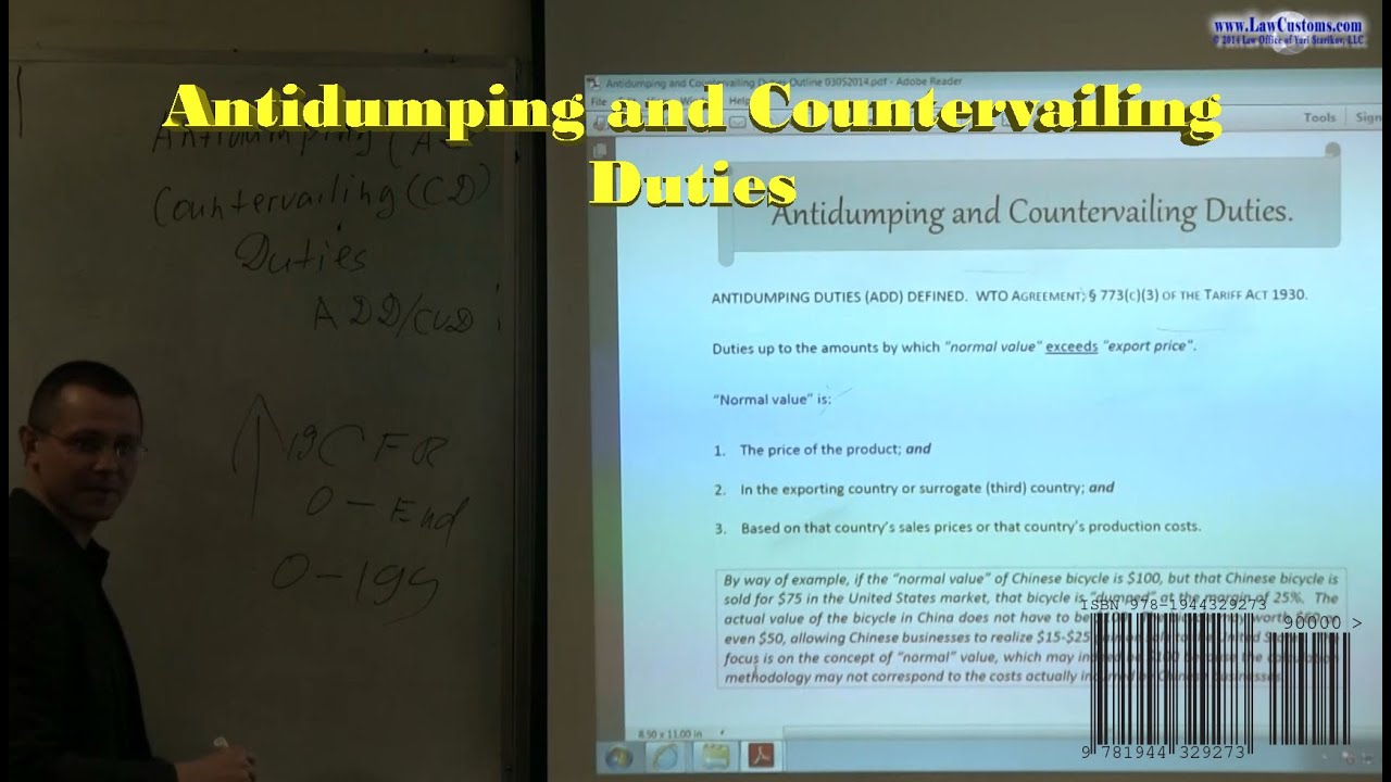 Antidumping And Countervailing Duties Administered By Us Customs