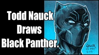 Todd Nauck Draws Black Panther on a Post-It Note.