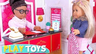 Play Baby Doll Spring Break at American Girl Doll Hotel Toy!