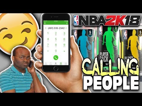 CALLING RANDOM PEOPLE TO DRAFT MY TEAM! NBA 2K18 PACK AND PLAYOFFS!