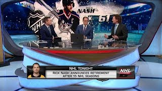 NHL Tonight:  Rick Nash retires after 15 seasons in the NHL  Jan 11,  2019
