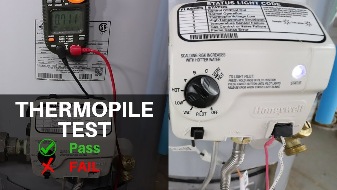 Testing A Thermopile On A Water Heater Youtube