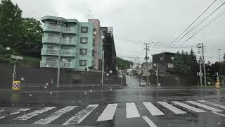 長橋線と小樽市道:清水町~国道5号交点[小樽市4K ドライブ]