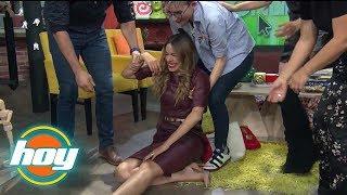 Caídas memorables de Galilea Montijo y otros presentadores de HOY