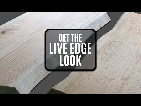 How To Make Wood Look Like It Has A Live Edge - saving you time and money