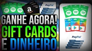 NÃO É FAKE!! GANHE qualquer GIFT CARDS (Spotify, Play Store, Xbox e etc) e DINHEIRO no PAYPAL - 2020