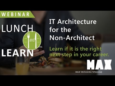 IT Architecture for the Non Architect, 1/21/2016