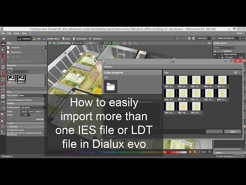 How to easily import more than one IES file or LDT file in Dialux evo