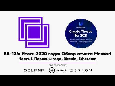 ББ-136: Итоги 2020 года: Обзор отчета Messari. Часть 1. Персоны года, Bitcoin, Ethereum