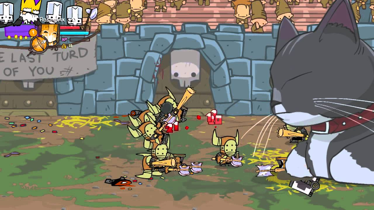 Castle Crashers Easy Arena Level 1 Character Solo Youtube
