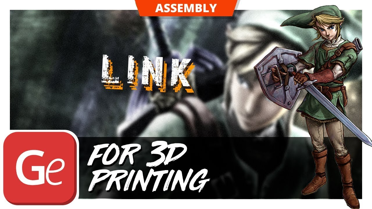 Legend Of Zelda Link 3D Figurine 360 Degree Overview