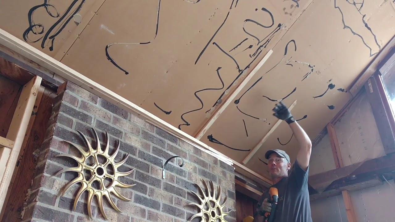 Ceiling Prep For Car Siding
