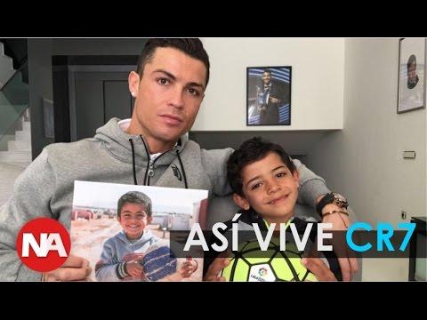 Así vive Cristiano Ronaldo, CR7 con su Hijo, Autos Deportivos, Mansiones y Más