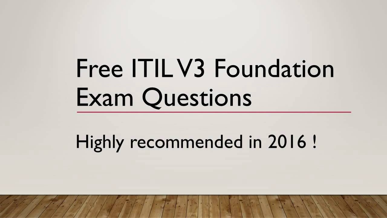 Itil V Foundation Certification Free Professional Resume