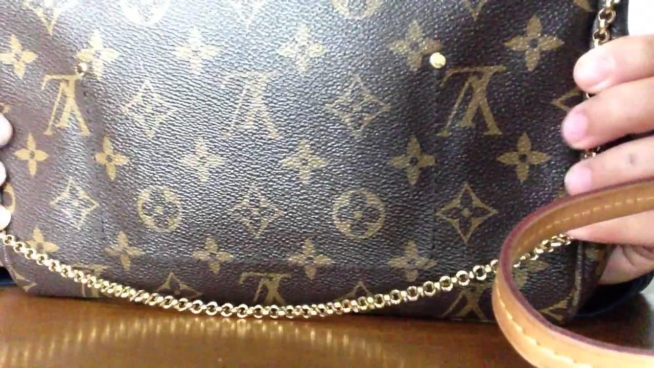 b44fe0373d8 Authentic Louis Vuitton Favorite MM Review - YouTube