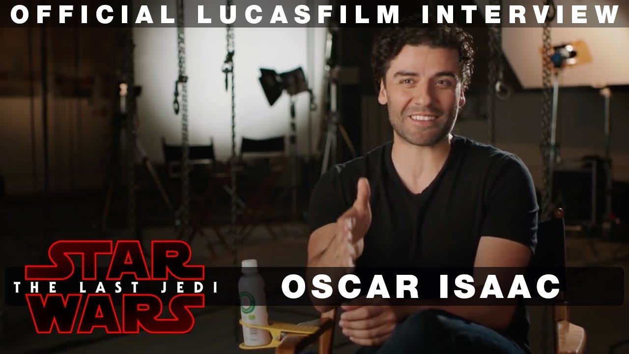 The Last Jedi Oscar Isaac Official Interview Poe Dameron Youtube
