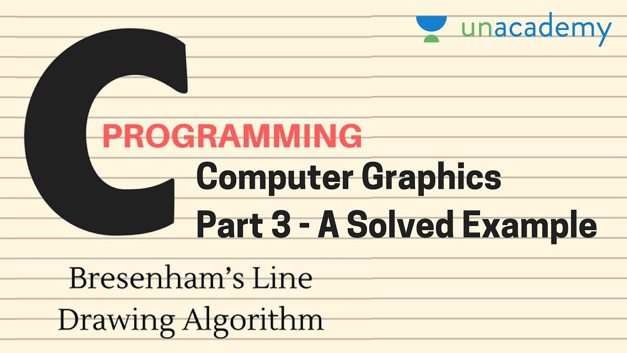 Breshman Line Drawing Algorithm Example : Bresenham s line drawing algorithm in computer graphics