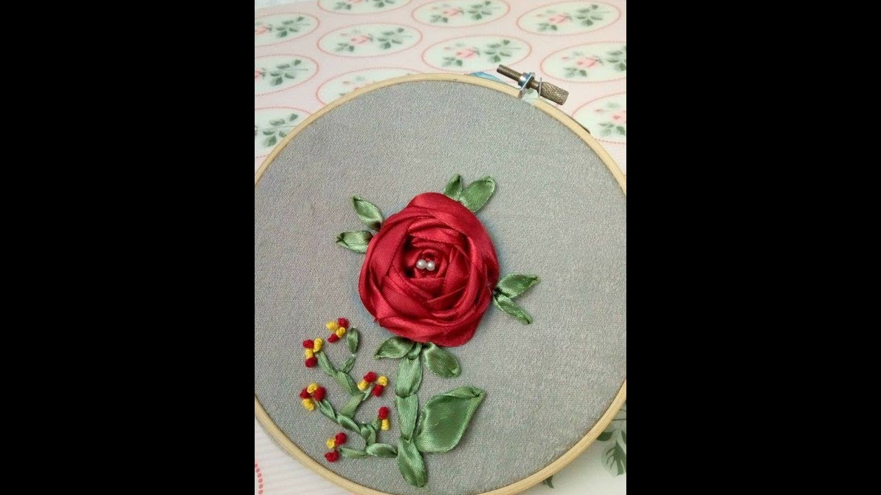 Diy Embroidery Satin Ribbon How To Learn Spider Web Rose Stitch