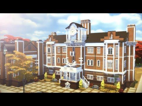 Fine Arts School | University of Newcrest (UNC) | Los Sims 4 (Speed Build)