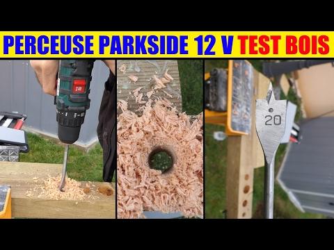 Lidl Perceuse Visseuse 12v Parkside Test Bois Cordless Drill