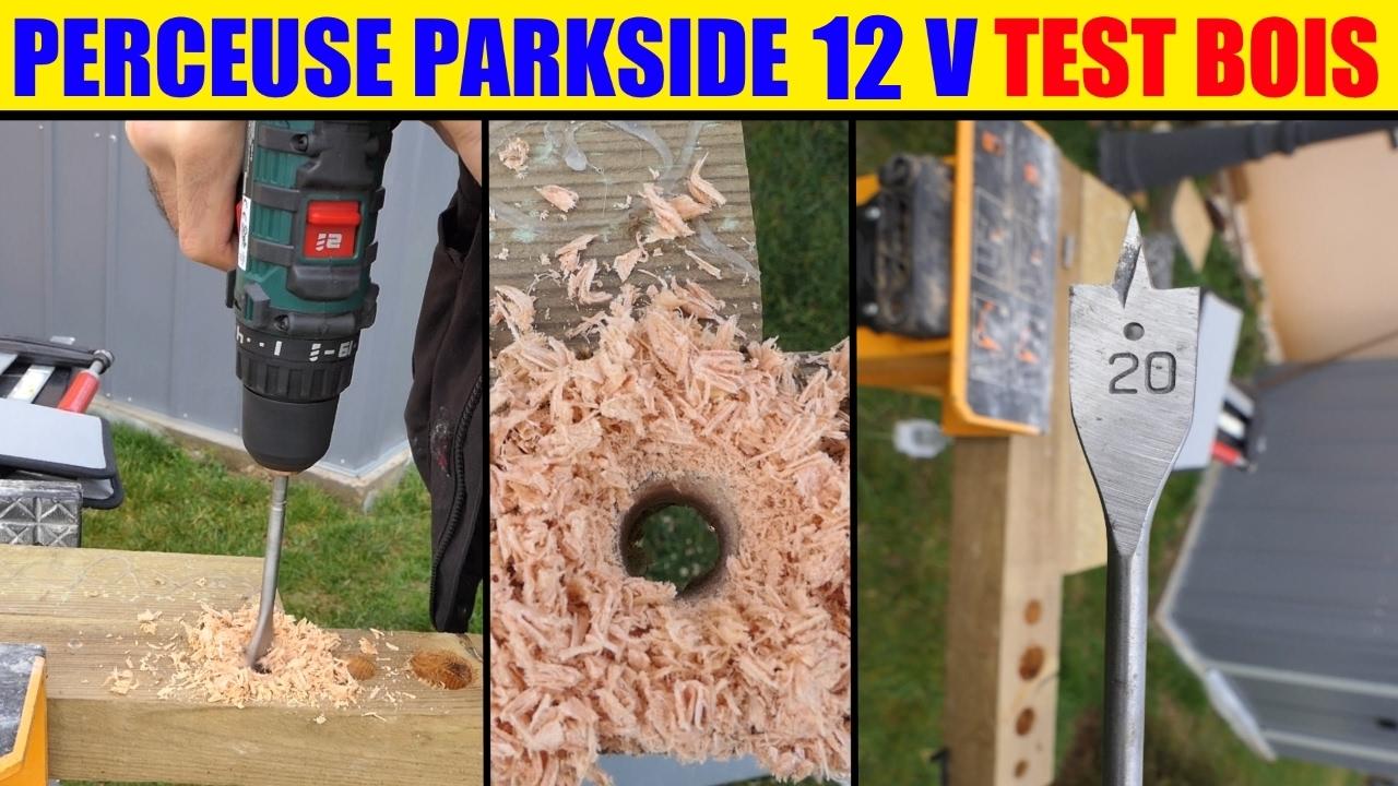 Lidl Perceuse Visseuse 12v Parkside Test Bois Cordless Drill Akku Bohrschrauber