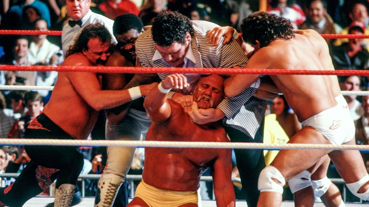Download Andre the Giant attacks Hulk Hogan: Saturday Night's Main Event, Jan. 2, 1988