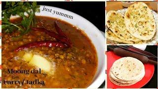 #tadka #moongcurry #recipe #justyummm Moong dal curry/tadka| Healthy breakfast recipe|easy recipe.