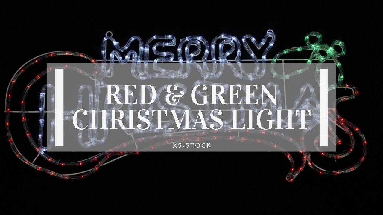 redgreenwhite merry christmas rope light