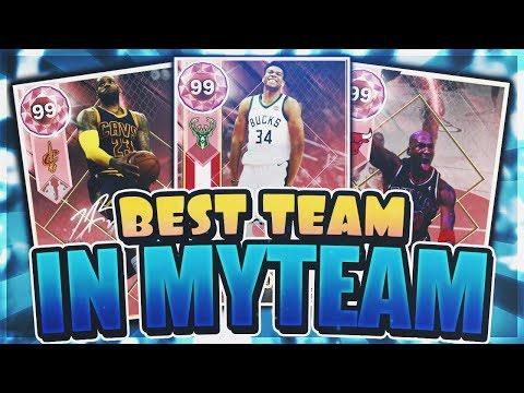 BEST TEAM IN MYTEAM! FULL PINK DIAMOND SQUAD!! (NBA 2K18 MYTEAM)