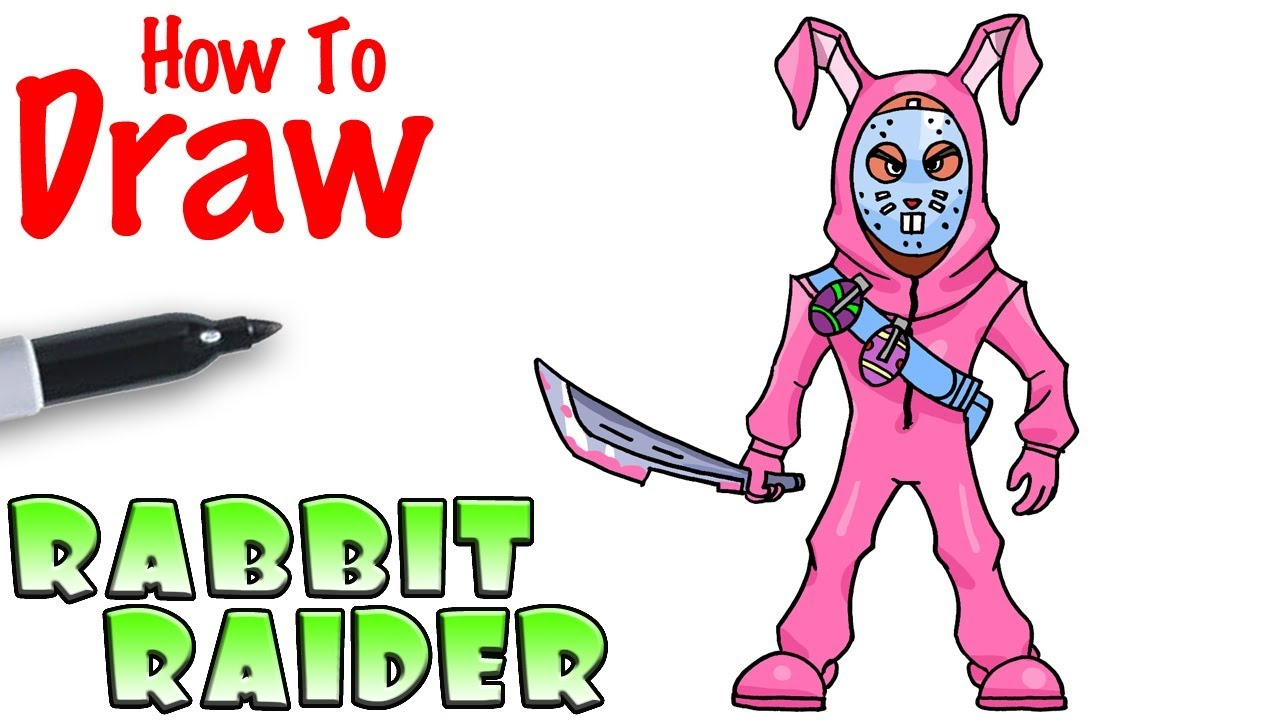 How To Draw The Rabbit Raider Fortnite Youtube