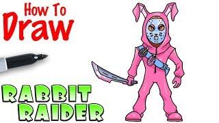 How to Draw the Rabbit Raider   Fortnite