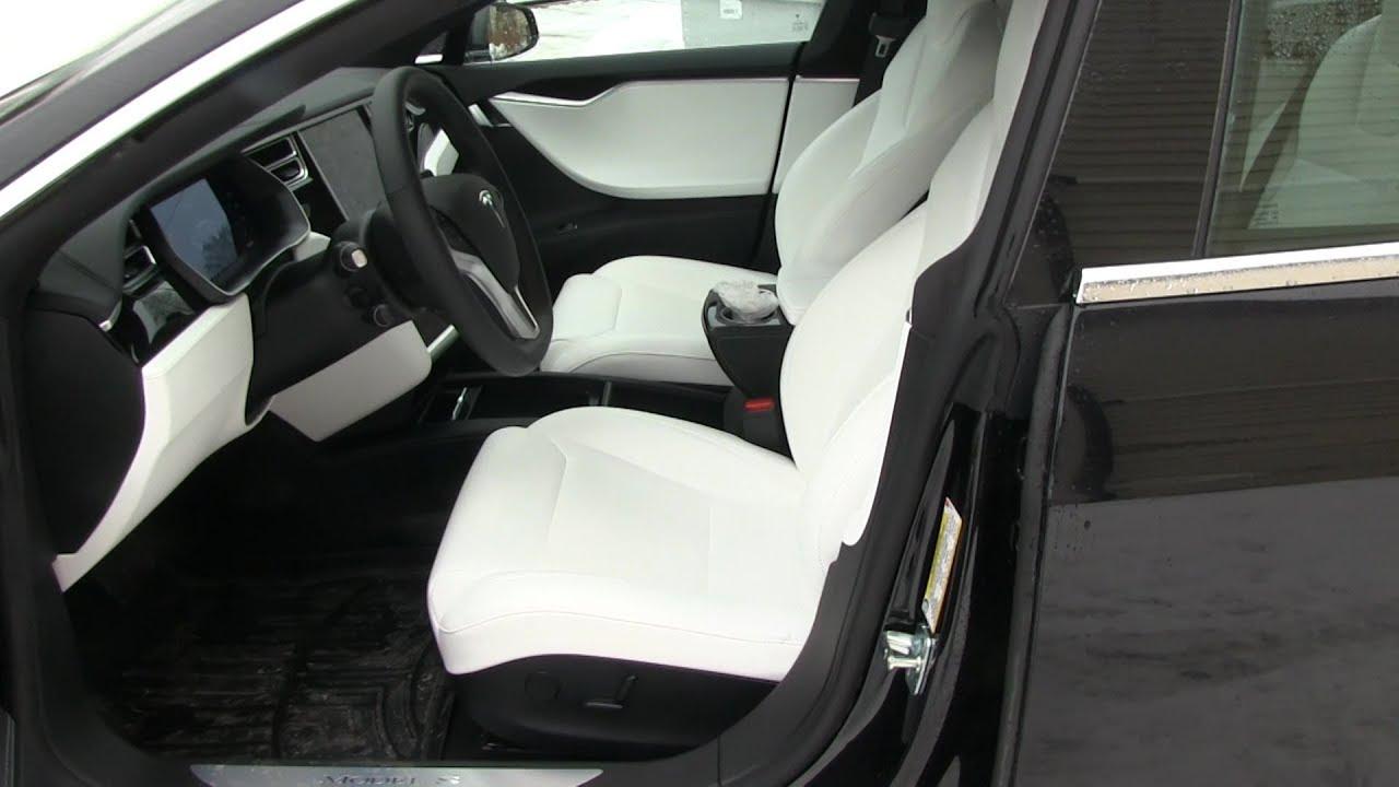 tesla model s white interior car design today. Black Bedroom Furniture Sets. Home Design Ideas