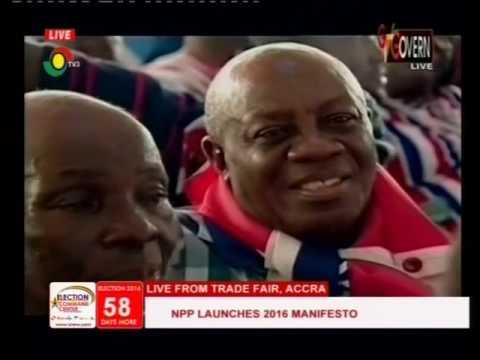 Dr  Bawumia highlights NPP 2016 manifesto -Launch - 9/10/2016