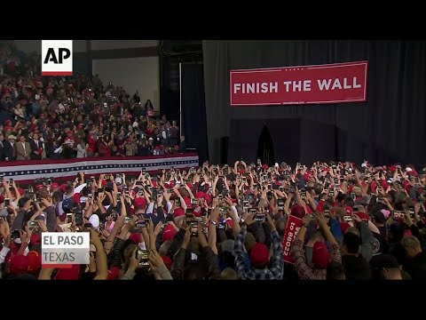Trump slams O'Rourke at El Paso Rally