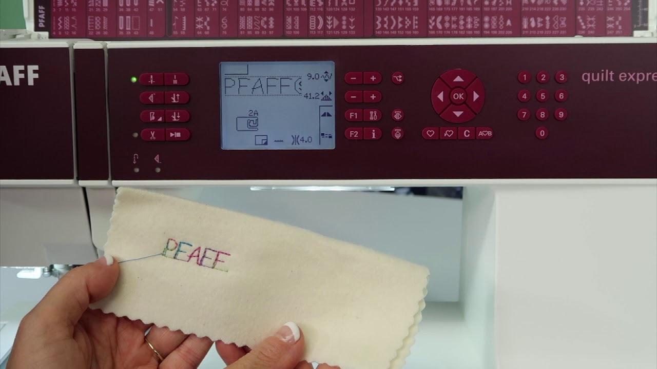 Pfaff Quilt Expressions 4 2 54 Sequencing Letters