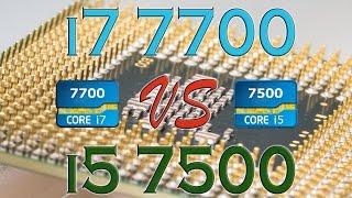 i7 7700 vs i5 7500 benchmarks gaming tests review and comparison kaby lake vs kaby lake